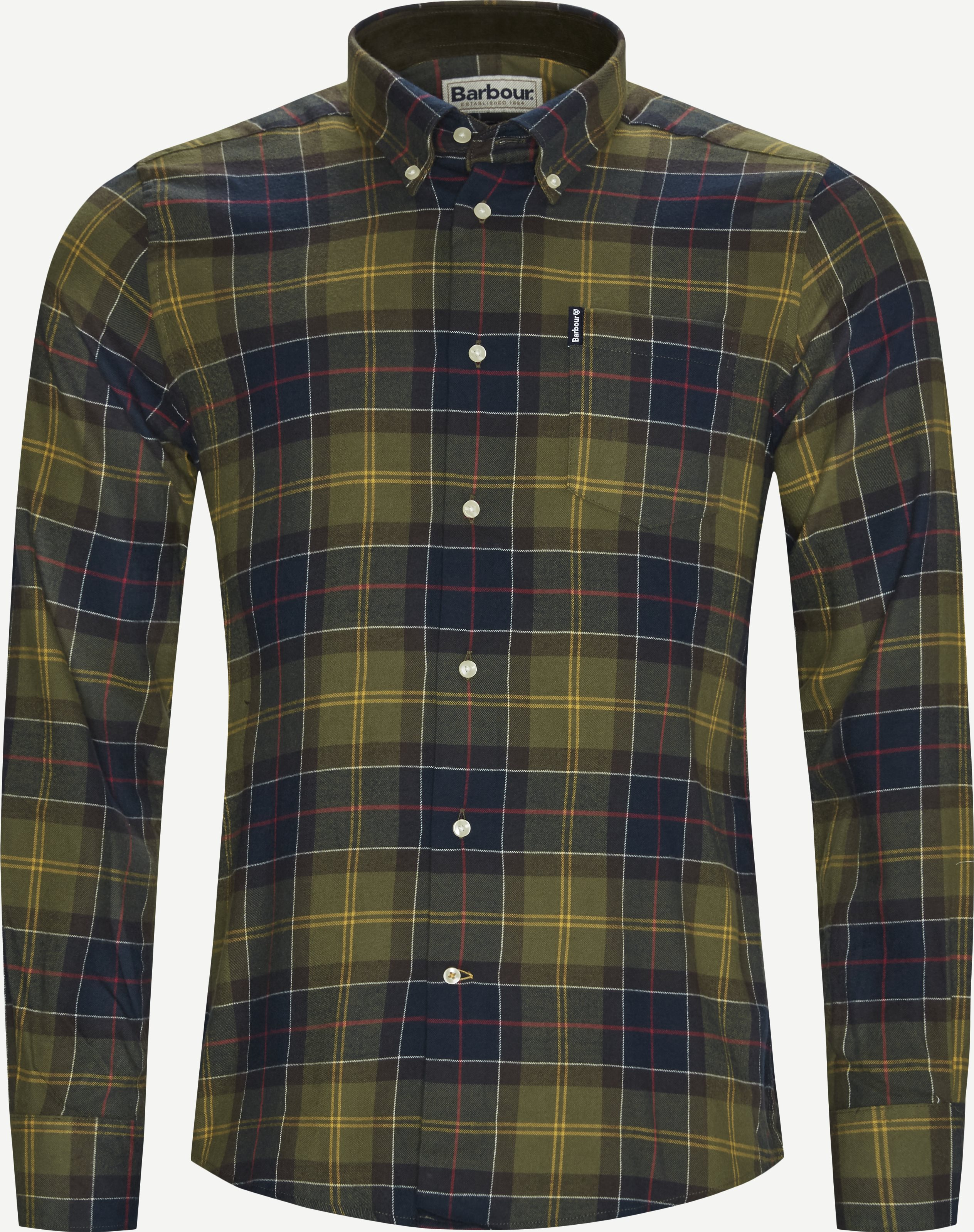 Hemden - Tailored fit - Oliv