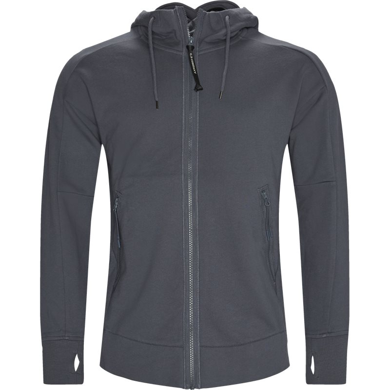 C.p. company - diagonal raised fleece goggle zip sweatshirt fra c.p. company fra kaufmann.dk