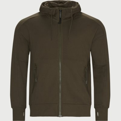 Diagonal Raised Fleece Goggle Zip Sweatshirt Regular | Diagonal Raised Fleece Goggle Zip Sweatshirt | Army