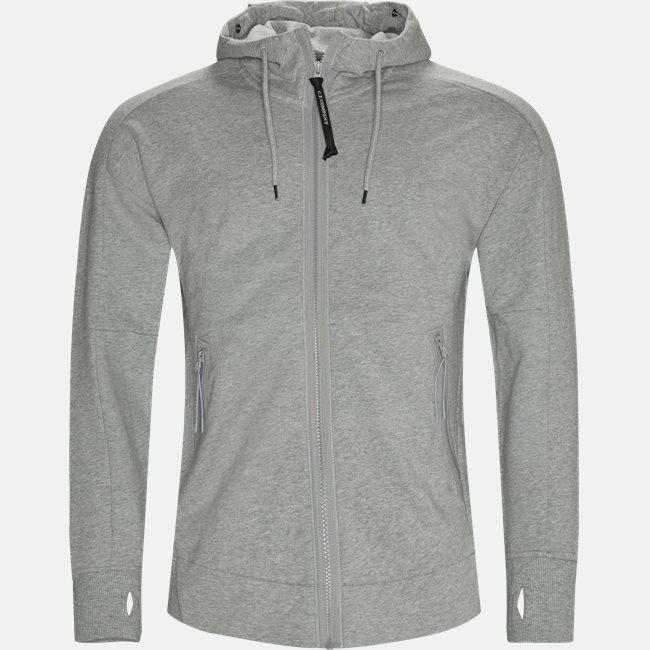 Diagonal Raised Fleece Goggle Zip Sweatshirt