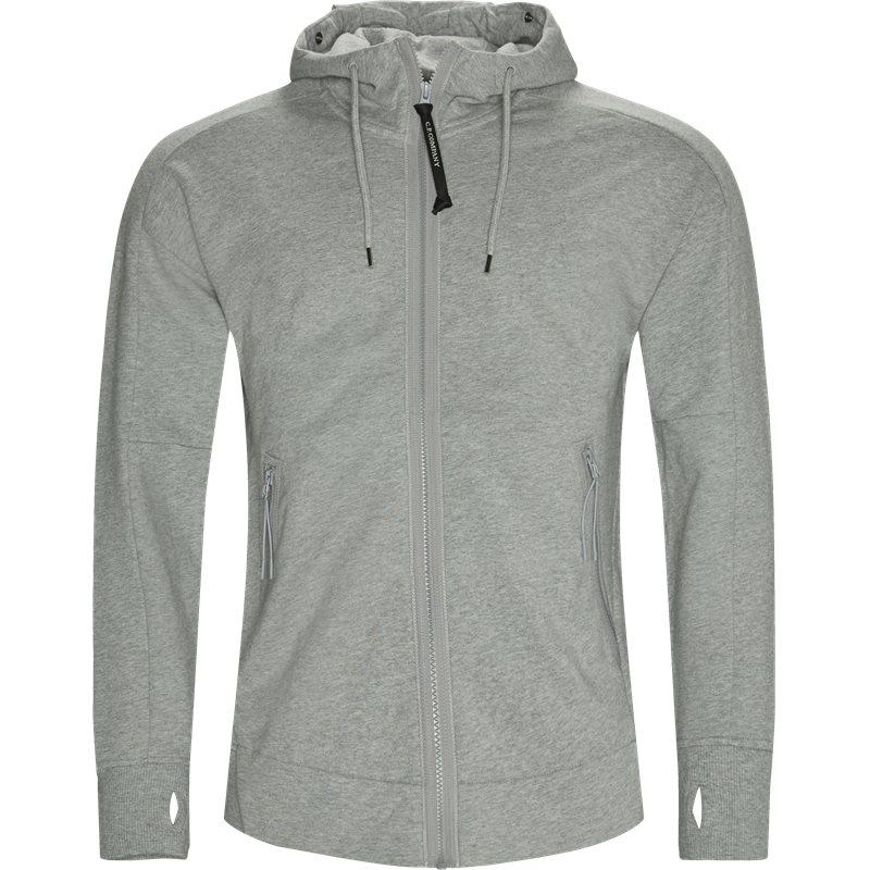 c.p. company – C.p. company - diagonal raised fleece goggle zip sweatshirt på kaufmann.dk