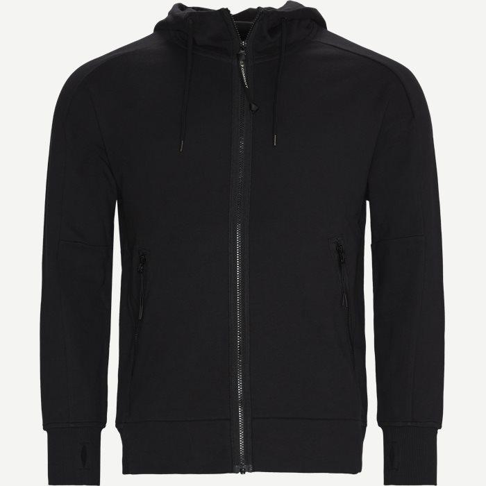 Diagonal Raised Fleece Goggle Zip Sweatshirt - Sweatshirts - Regular - Sort