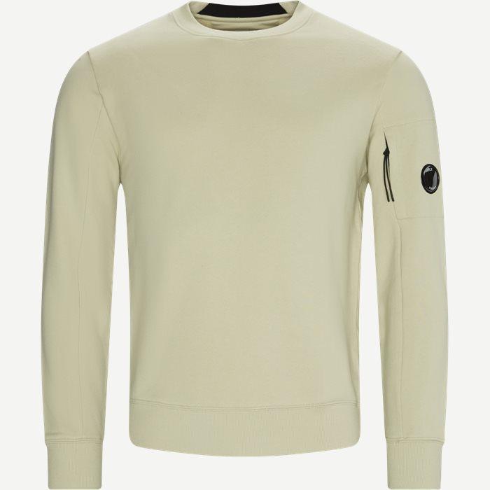 Lens Logo Crewneck Sweatshirt - Sweatshirts - Regular - Sand