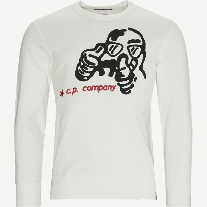 Brushed Fleece Cartoon Graphic Sweatshirt - Sweatshirts - Regular - Hvid
