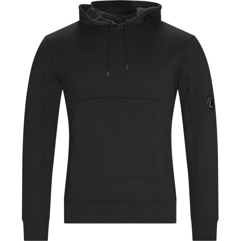 C.p. company - diagonal raised fleece lens logo hoodie fra c.p. company på kaufmann.dk
