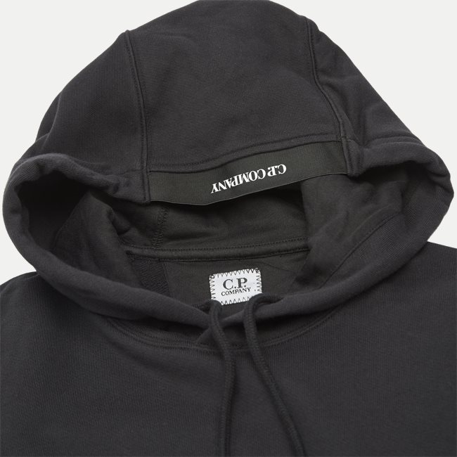 Diagonal Raised Fleece Lens Logo Hoodie