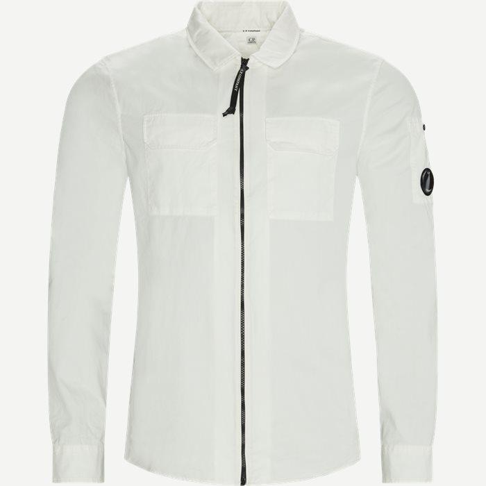 Lens Logo Gabardine Shirt - Skjorter - Regular - Hvid