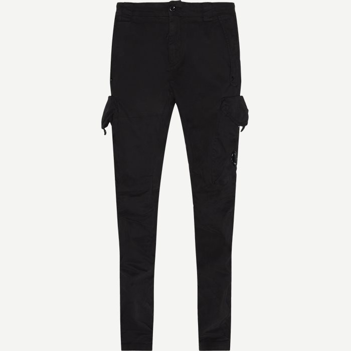 Lens Logo Cargo Pant - Trousers - Tapered fit - Black