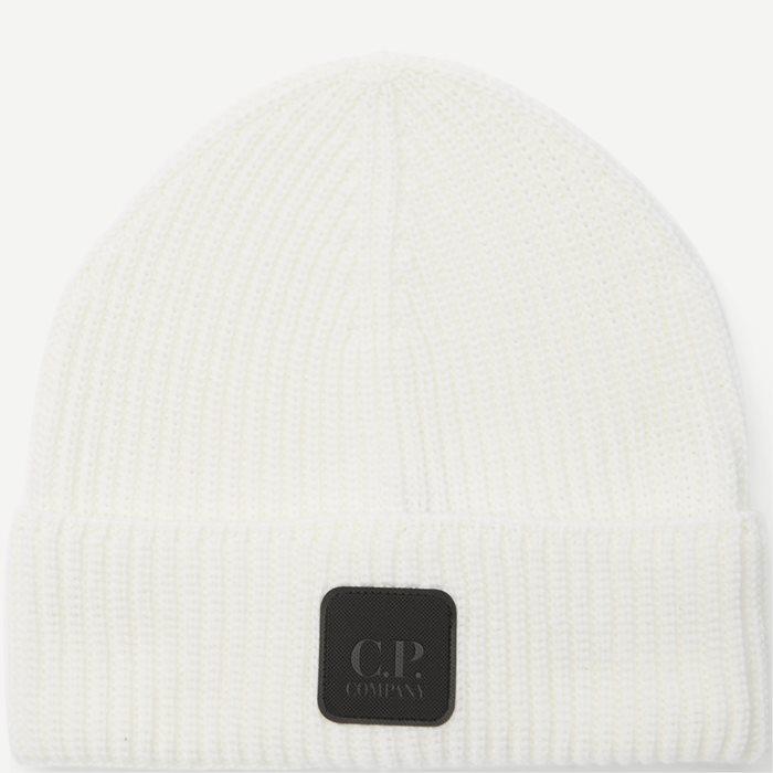 Knitted Logo Cap - Caps - Hvid