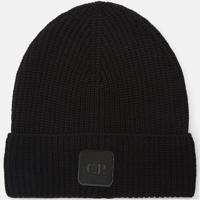Knitted Logo Cap - Huer - Sort