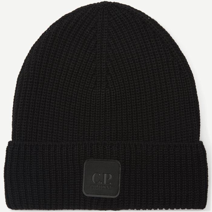Knitted Logo Cap - Caps - Sort