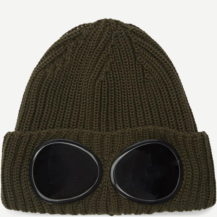 Goggle Logo Knit Cap - Caps - Army