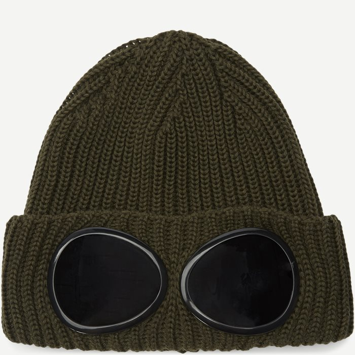 Goggle Logo Knit Cap - Caps - Army