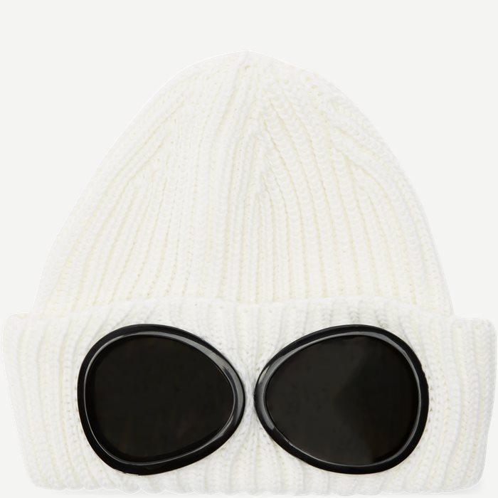 Goggle Logo Knit Cap - Caps - Hvid