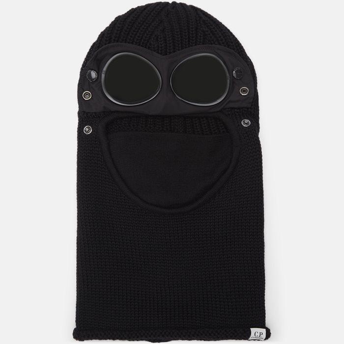 Wool Goggle Balaclava - Beanies - Black