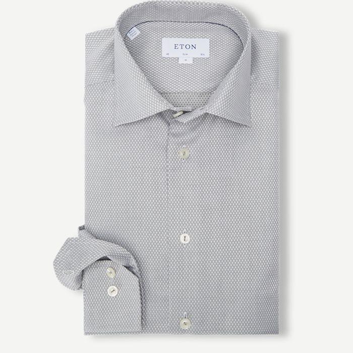 Dobby Shirt - Skjortor - Grön