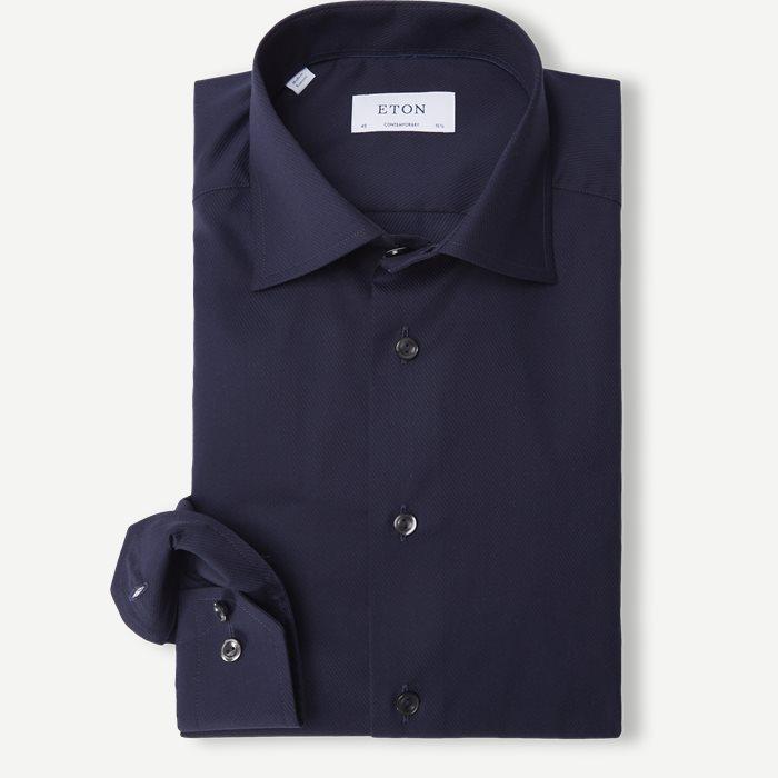 Twill Cotton Shirt - Skjortor - Blå