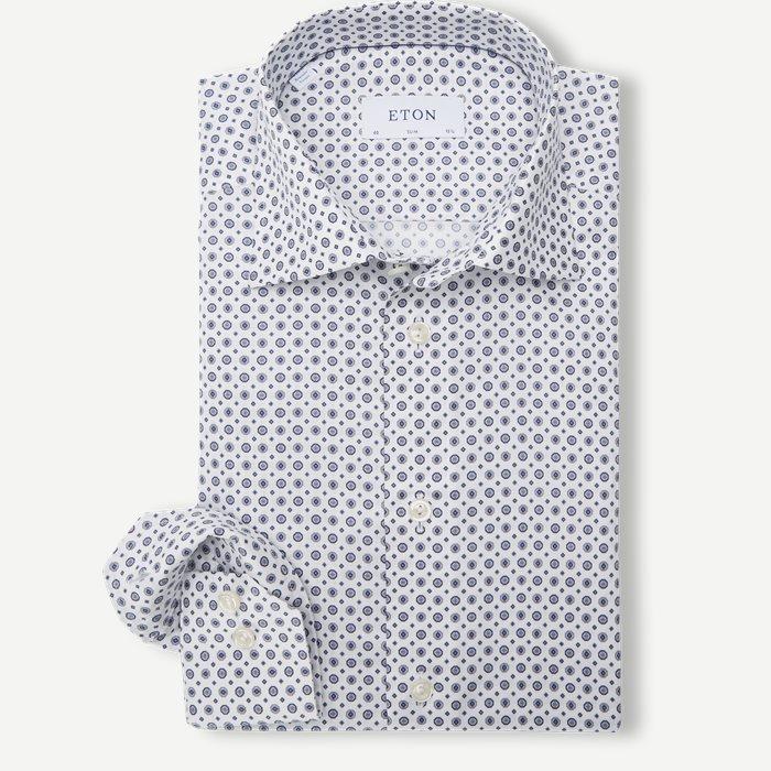 Signature Twill Shirt - Skjortor - Blå