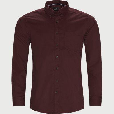 Regular | Hemden | Weinrot