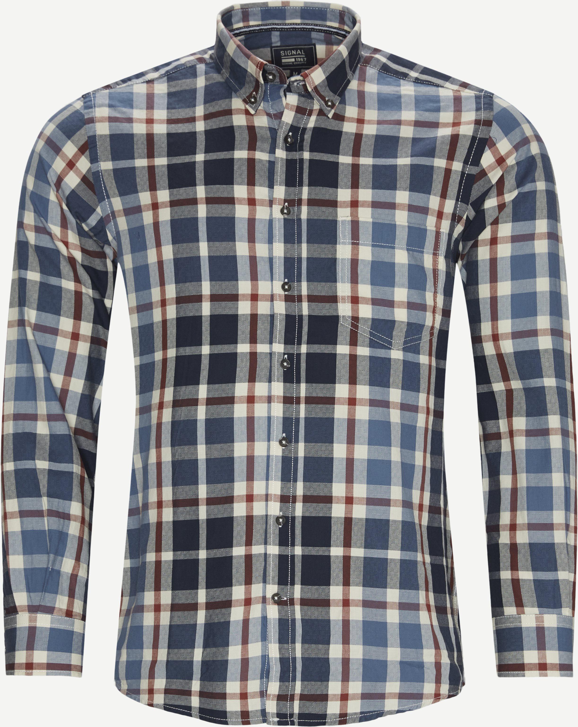 Franne Check Skjorte - Skjorter - Regular - Blå