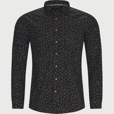 Franne Print Skjorte Regular fit | Franne Print Skjorte | Sort