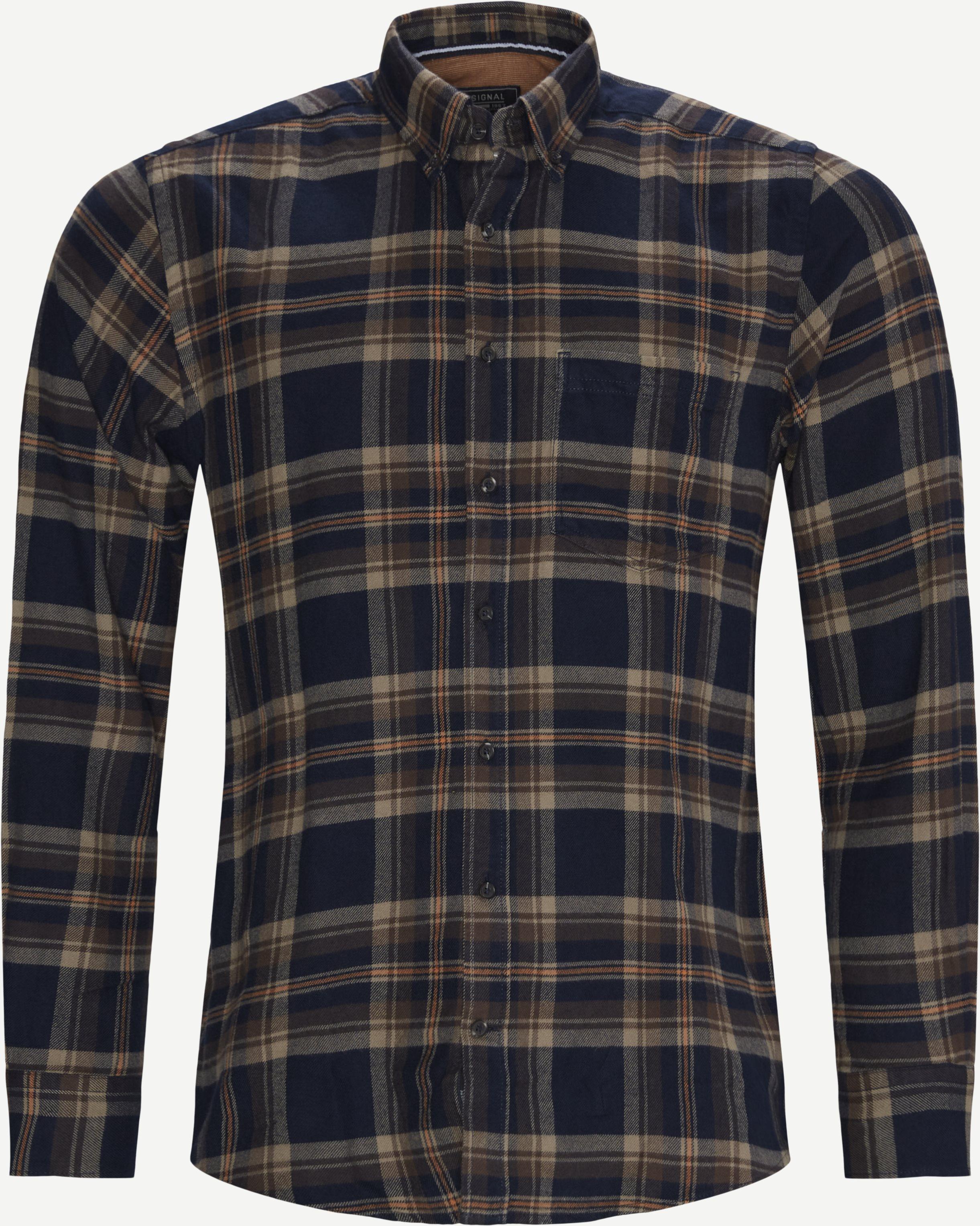 15399 Skjorte - Skjorter - Regular - Blå