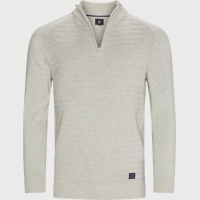 Sander Half Zip Sweater Regular | Sander Half Zip Sweater | Sand