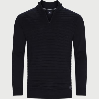 Sander Half Zip Sweater Regular | Sander Half Zip Sweater | Blå