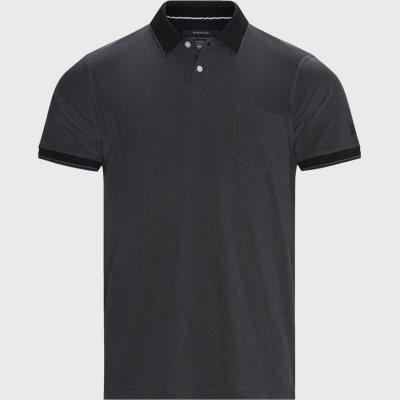 Benjamin Structure Polo T-shirt Regular | Benjamin Structure Polo T-shirt | Grå