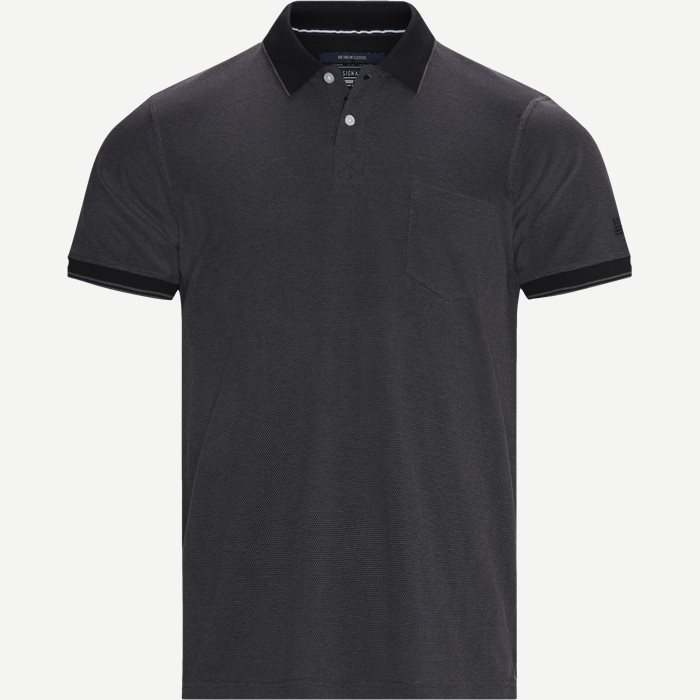 Benjamin Structure Polo T-shirt - T-shirts - Regular - Grå