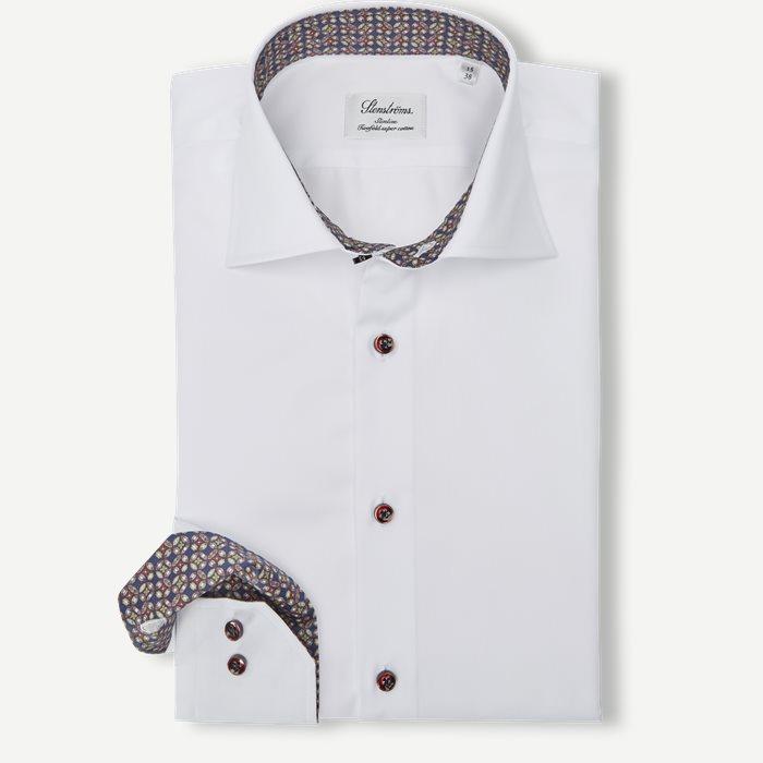 2321 Twofold Super Cotton Skjorte - Skjorter - Hvid