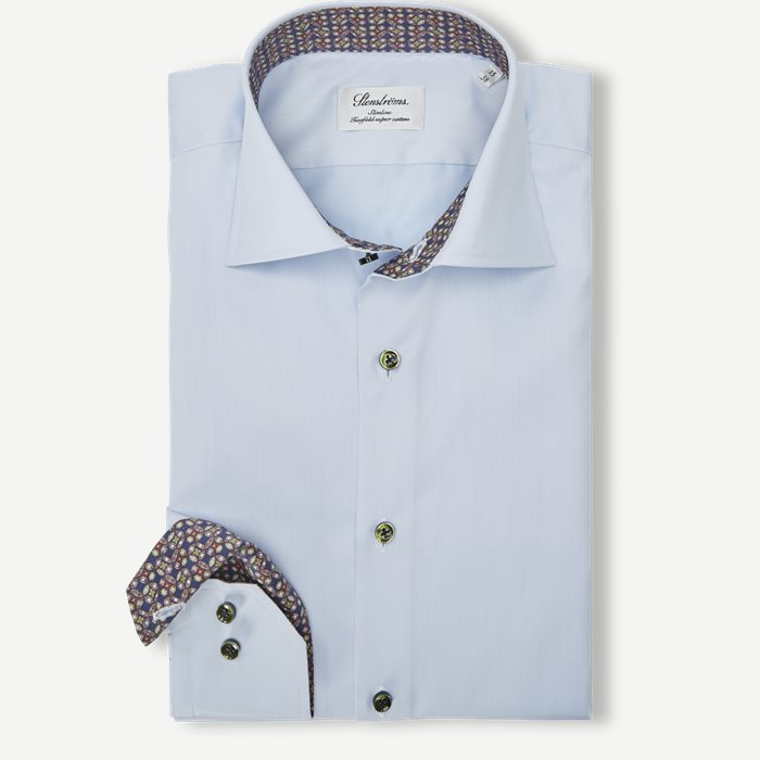 2321 Twofold Super Cotton Skjorte - Skjorter - Blå