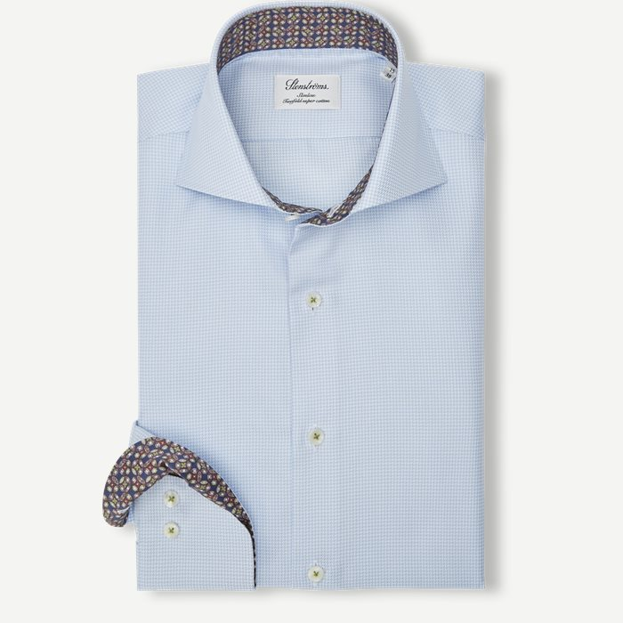 2320 Twofold Super Cotton Skjorte - Skjorter - Blå