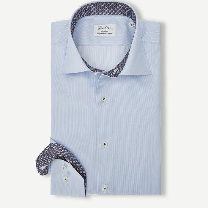 2370 Twofold Super Cotton Skjorte - Skjorter - Blå