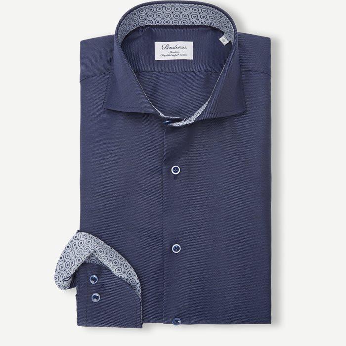2327 Twofold Super Cotton Skjorte - Skjorter - Blå