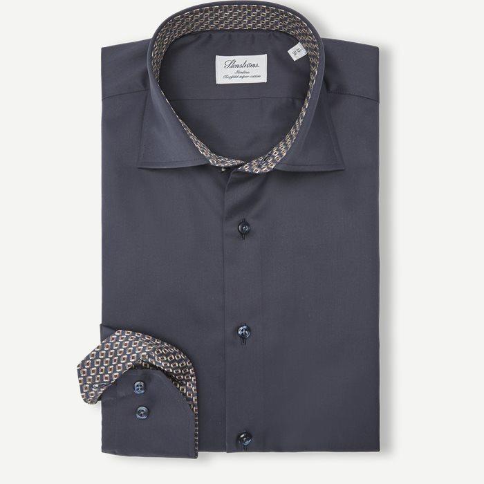 2348 Twofold Super Cotton Skjorte - Skjorter - Blå