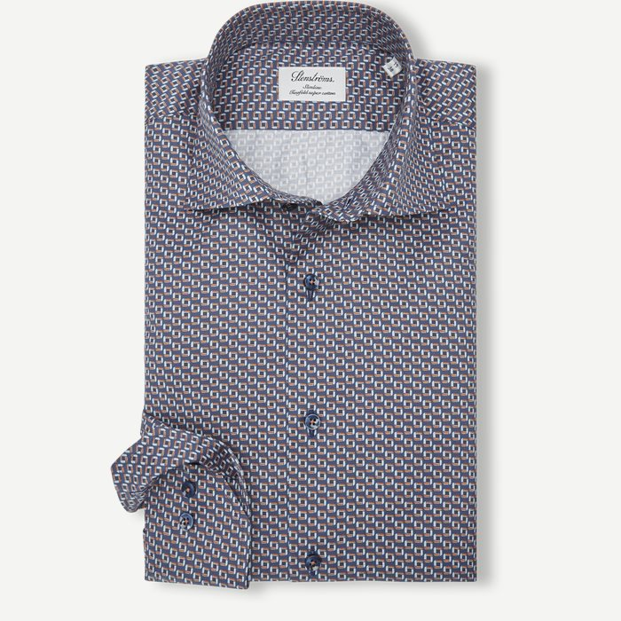 8065 Twofold Super Cotton Skjorte - Skjorter - Blå