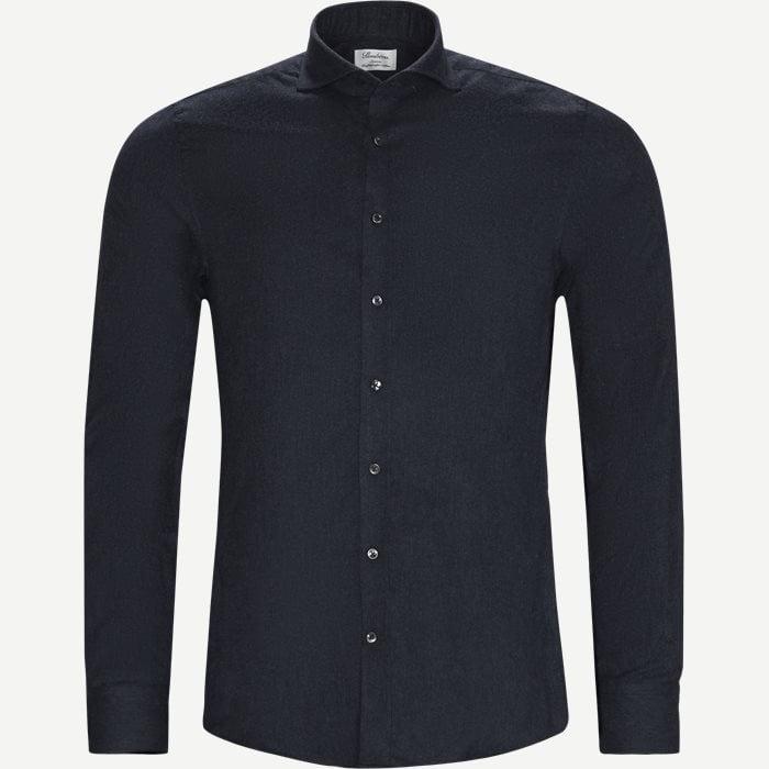 7635 Twofold Cotton Shirt - Skjorter - Blå