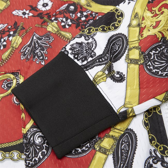 Tecno Print Belt Paisley Zip Sweatshirt