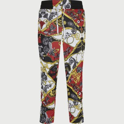 Techno Print Belt Paisley Pant Regular | Techno Print Belt Paisley Pant | Rød