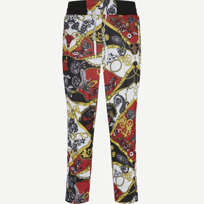 Techno Print Belt Paisley Pant - Trousers - Regular - Red