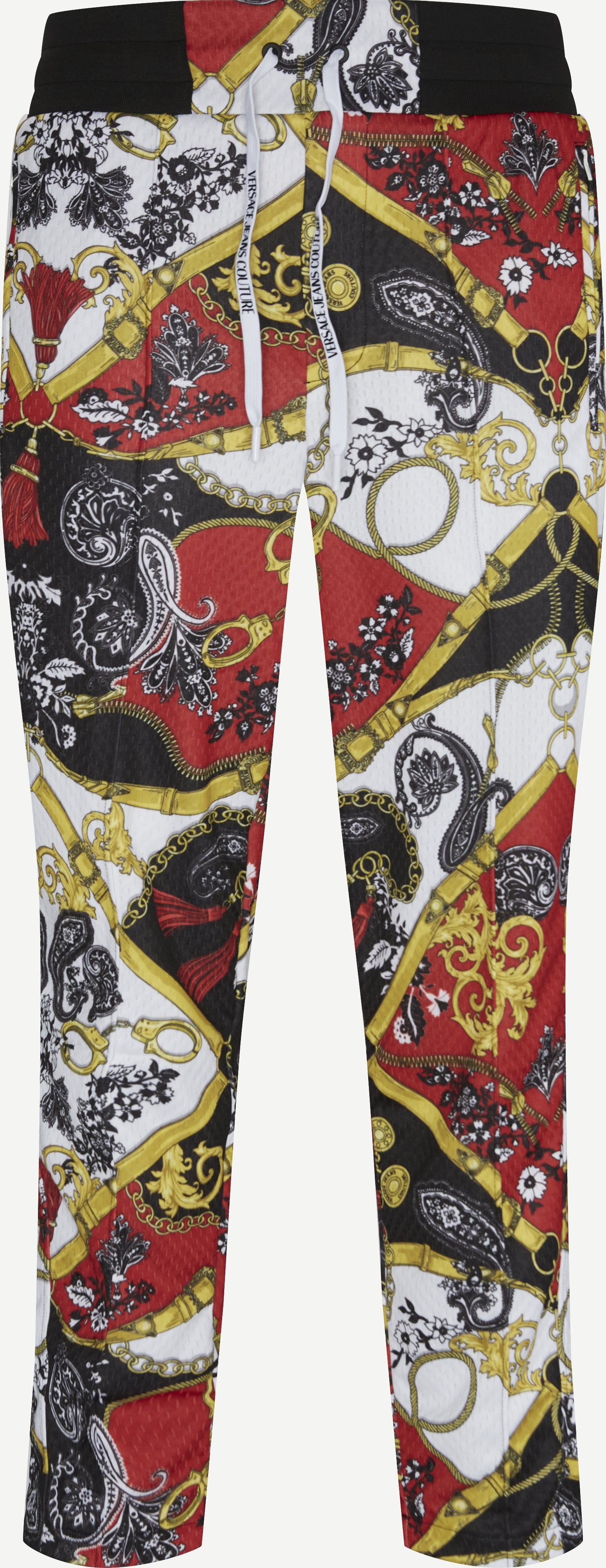 Techno Print Belt Paisley Pant - Byxor - Regular - Röd
