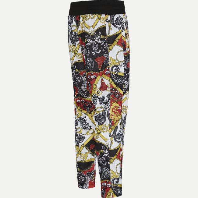Techno Print Belt Paisley Pant
