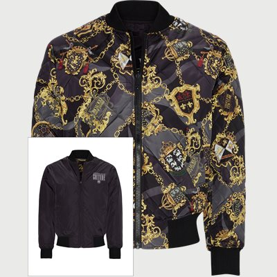 Reversible Bomber Jacket Regular | Reversible Bomber Jacket | Sort
