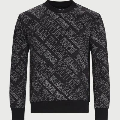Logomania Crew Neck Sweatshirt Regular | Logomania Crew Neck Sweatshirt | Sort