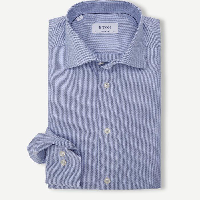 3041 Dobby Shirt - Skjorter - Blå