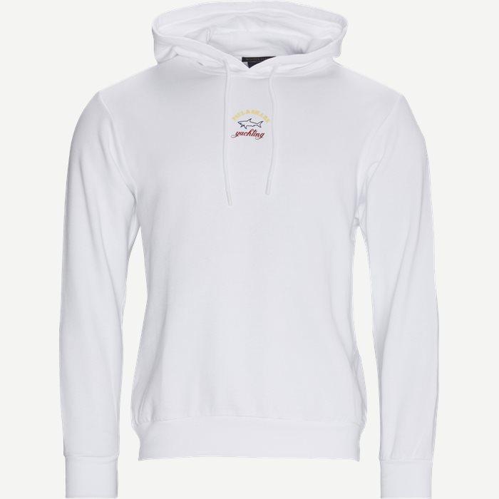 Logo Hoodie - Sweatshirts - Regular - Vit