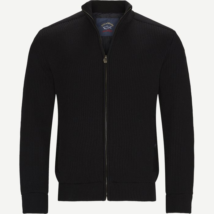Wool Logo Cardigan - Strik - Regular - Sort