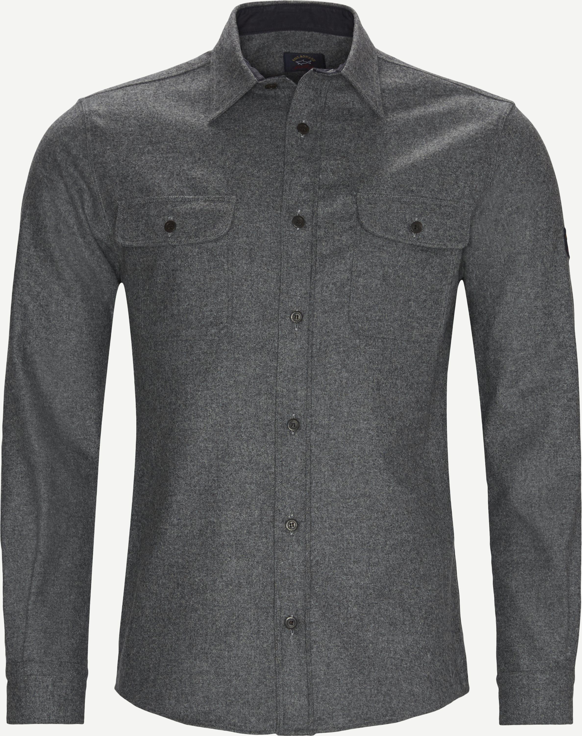 Logo Shirt - Skjortor - Regular - Grå
