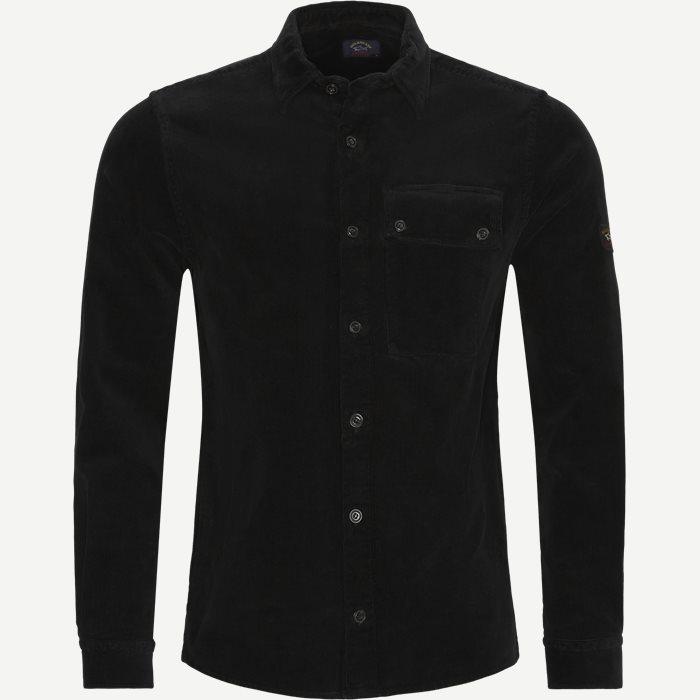 Corduroy Overshirt - Shirts - Regular - Black